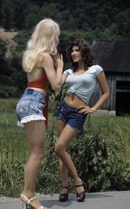 """Hee Haw""Misty Rowe, Barbi Benton circa 1973 © 1978 Marv Newton - Image 9742_0074"