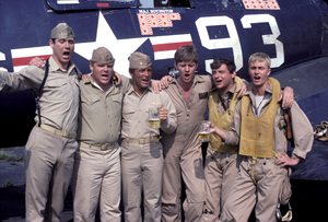 """Baa Baa Black Sheep""John Larroquette, Dirk Blocker, Robert Conrad, Robert Ginty, James Whitmore Jr., W.K. Stratton1976** H.L. - Image 9751_0015"