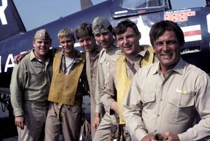 """Baa Baa Black Sheep""Dirk Blocker, W.K. Stratton, Robert Ginty, John Larroquette, James Whitmore Jr., Robert Conrad 1976** H.L. - Image 9751_0017"