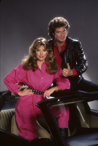 """Knight Rider""Rebecca Holden, David Hasselhoff1983© 1983 Mario Casilli - Image 9752_0081"