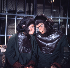"""""""Escape From Planet Of The Apes""""Kim Hunter, Roddy McDowall1971 20th Century Fox**I.V. - Image 9774_0028"""