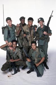 """Tour of Duty""Terence Knox, Tony Becker, Ramon Franco, Miguel A. Nunez Jr., Stan Foster1987 © 1987 Mario Casilli - Image 9798_0002"