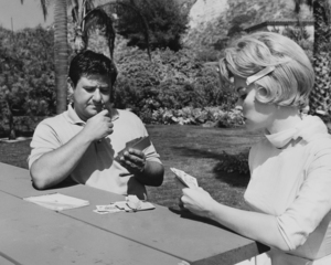 "Buddy Hackett and Dorothy Provine in ""It"