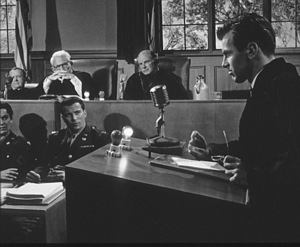 """""""Judgment at Nuremberg""""Maximilian Schell, Spencer Tracy, William Shatner1961 UAPhoto by Al St. Hilaire - Image 9892_0005"""