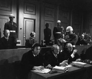 """Judgment at Nuremberg""Burt Lancaster, Maximilian Schell, Werner Klemperer1961 UAPhoto by Al St. Hilaire - Image 9892_0007"