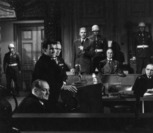 """Judgment at Nuremberg""Werner Klemperer, Maximilian Schell, Richard Widmark, Burt Lancaster1961 UAPhoto by Al St. Hilaire - Image 9892_0010"