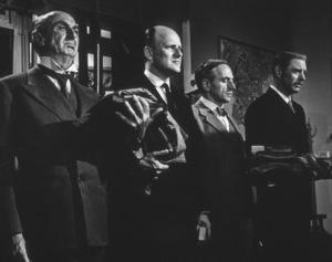 Werner Klemperer, Burt LancasterFilm Set / UAJudgment AT Nuremberg (1961) © 1978 Al St. Hilaire - Image 9892_0016