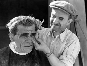 """The Mummy""Boris Karloff, makeup designer Jack P. Pierce1932 Universal** I.V. - Image 9897_0009"