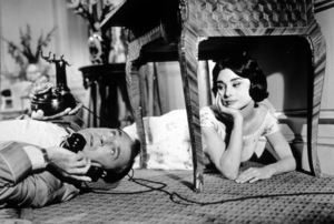 """""""Love In The Afternoon""""Gary Cooper and Audrey Hepburn © 1957 AA Productions / MPTV - Image 9902_0011"""