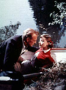 """""""Love In The Afternoon""""Gary Cooper and Audrey Hepburn1957MPTV - Image 9902_0017"""