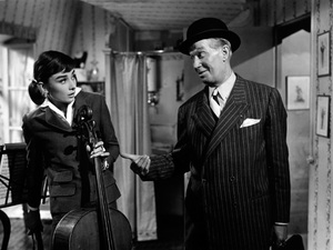 """""""Love in the Afternoon""""Audrey Hepburn, Maurice Chevalier1957 Allied Artists** I.V. - Image 9902_0020"""