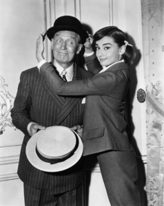 """Love in the Afternoon"" Audrey Hepburn, Maurice Chevalier1957** I.V. - Image 9902_0030"