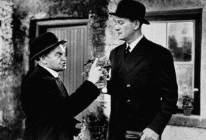 """The Quiet Man""Barry Fitzgerald and John Wayne. © 1952 Republic - Image 9957_0002"