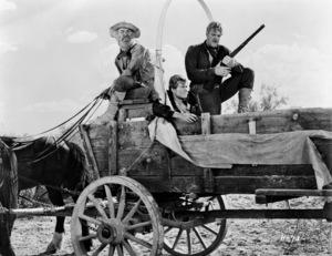 """Hondo""Frank McGrath, Tom Irish, Leo Gordon1953© 1978 Bud Fraker - Image 9960_0034"