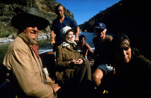 """Rooster Cogburn,"" Universal 1974.John Wayne and Katharine Hepburn. © 1978 David Sutton - Image 9967_0007"