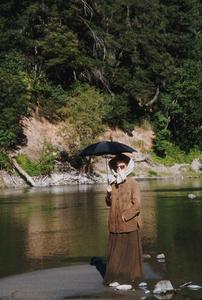 """Rooster Cogburn""Katharine Hepburn on location 1975 Universal © 1978 David Sutton - Image 9967_0013"