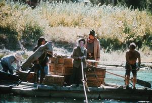 """Rooster Cogburn""Katharine Hepburn on location 1975 Universal © 1978 David Sutton - Image 9967_0019"