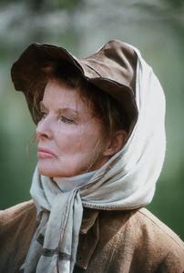 """Rooster Cogburn""Katharine Hepburn on location 1975 Universal © 1978 David Sutton - Image 9967_0026"