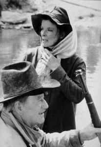 """Rooster Cogburn,"" Universal 1974.John Wayne and Katharine Hepburn. © 1978 David Sutton - Image 9967_0030"