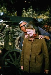 """Rooster Cogburn,"" Universal 1974.John Wayne and Katharine Hepburn. © 1978 David Sutton - Image 9967_0050"
