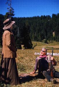 """Rooster Cogburn,"" Universal 1974.Katharine Hepburn and John Wayne. © 1978 David Sutton - Image 9967_0054"