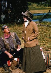 """Rooster Cogburn,"" Universal 1974.John Wayne and Katharine Hepburn. © 1978 David Sutton - Image 9967_0055"