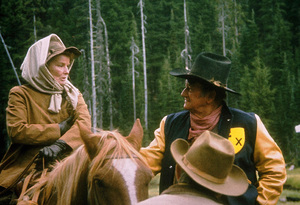 """Rooster Cogburn,"" Universal 1974.Katharine Hepburn and John Wayne. © 1978 David Sutton - Image 9967_0058"