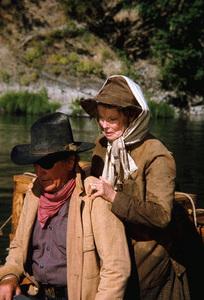 """Rooster Cogburn,"" Universal 1974.John Wayne and Katharine Hepburn. © 1978 David Sutton - Image 9967_0059"