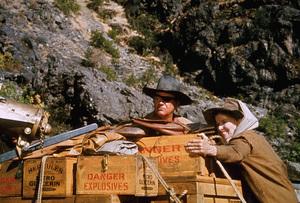"""Rooster Cogburn,"" Universal 1974.John Wayne and Katharine Hepburn. © 1978 David Sutton - Image 9967_0060"