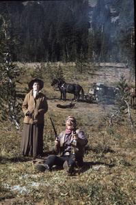 """Rooster Cogburn"" John Wayne, Katharine Hepburn 1975 Universal © 1978 David Sutton - Image 9967_0075"