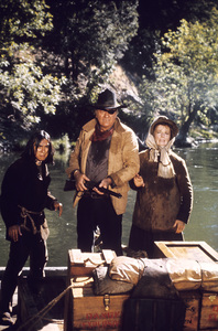 """Rooster Cogburn""John Wayne, Katharine Hepburn1975 Universal © 1978 David Sutton - Image 9967_0076"