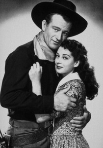 """Angel and the Badman,"" Republic 1947.John Wayne and Gail Russell. - Image 9973_0001"