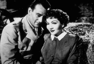 """Without Reservations,"" RKO 1946.John Wayne and Claudette Colbert. - Image 9974_0001"