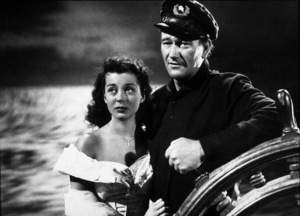 """Wake of the Red Witch,"" Republic 1948.Gail Russell and John Wayne. - Image 9975_0001"