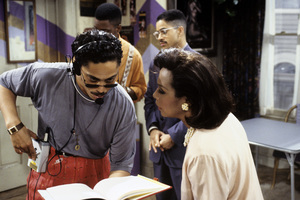 """A Different World"" (Episode: Save the Best for Last)Kadeem Hardison, Diahann Carroll, Darryl M. Bell1992© 1992 Gene Trindl - Image 9987_0083"