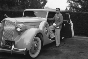 Charles Boyer with his 1935 Packard*M.W.* - Image 998_48
