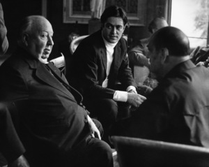 Alfred Hitchcock, Rafael Bunuel and Luis Bunuel at a Directors Group Party hosted by George Cukor1972 © 1978 Marv Newton - Image 9999_0012