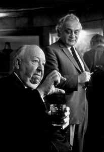 Directors Group Party.  11/72.Alfred Hitchcock, Serge Silverman. © 1978 Marv Newton - Image 9999_0017