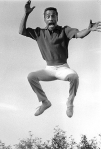 Sammy Davis, Jr. jumping in mid-air, 1960. © 1978 Bernie AbramsonMPTV - Image 9_500