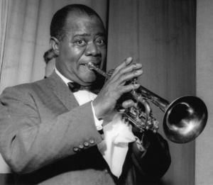 Louis Armstrong on stage on Day 2, Finsbury Park Astoria, London1962 Photo by Brian Foskett © National Jazz Archive - Image FOS_0013