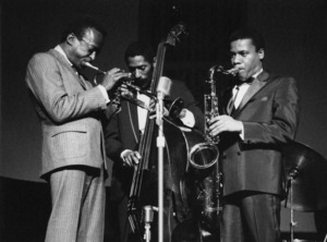 Miles Davis Quintet with Ron Carter and Wayne Shorter, Hammersmith, London 1967Photo by Brian Foskett © National Jazz Archive - Image FOS_00182