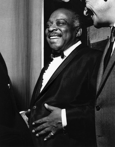 Count Basie backstage, Finsbury Park Astoria, London1963Photo by Brian Foskett © National Jazz Archive - Image FOS_0023