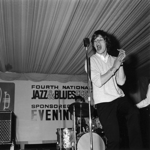 The Rolling Stones (Mick Jagger, 4th National Jazz and Blues Festival, Richmond, London) 1964Photo by Brian Foskett © National Jazz Archive - Image FOS_00541