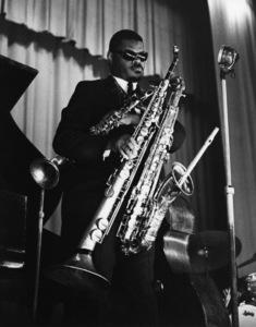 Rahsaan Roland Kirk, Camden Town Hall, London1963Photo by Brian Foskett © National Jazz Archive - Image FOS_00695