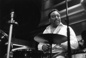 Chico Hamilton, Jazz Café, London1994Photo by Brian Foskett © National Jazz Archive - Image FOS_01131