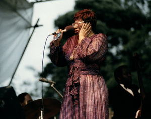 Ella Fitzgerald, Capital Radio Jazz Festival, Knebworth, Herts1981Photo by Brian Foskett © National Jazz Archive - Image FOS_01273