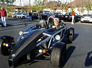 Jay Leno in his 2007 Arielatom Calabasas California 1-1-2007 © 2007 Ron Avery - Image img_3616