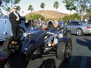 Jay Leno in his 2007 Arielatom Calabasas California 1-1-2007 © 2007 Ron Avery - Image img_3617