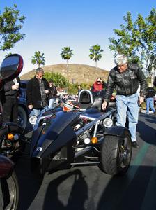 Jay Leno in his 2007 Arielatom Calabasas, California 1-1-2007 © 2007 Ron Avery - Image img_3618